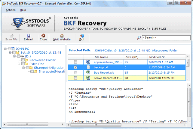Repair Corrupt BKF with Repair .BKF Files